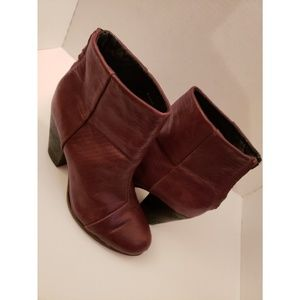 Rag & Bone Burgundy leather ankle boots